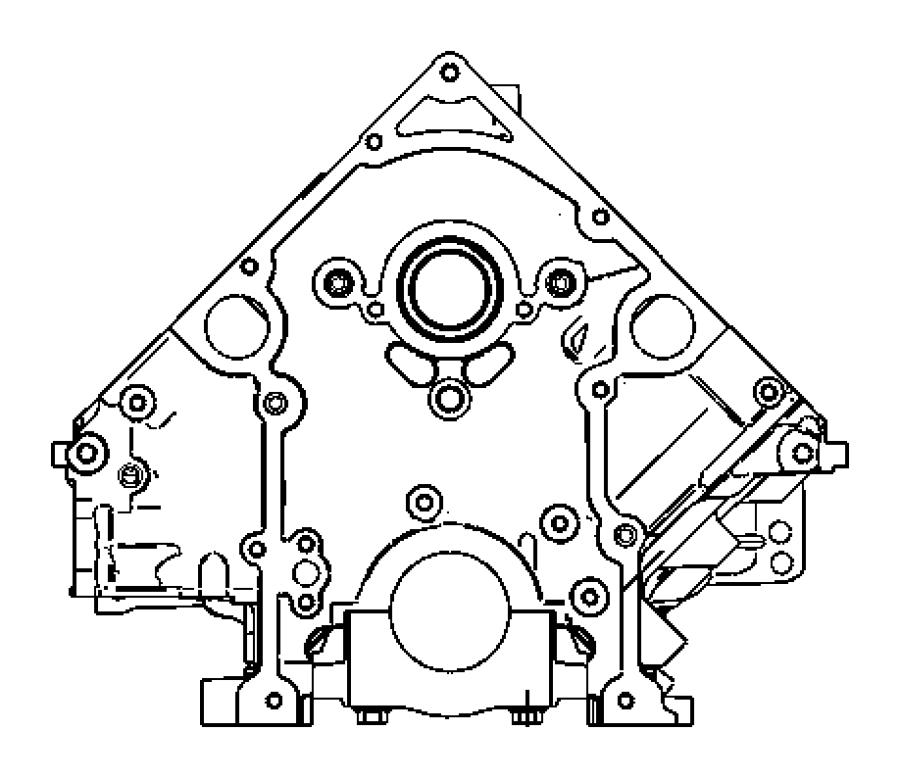 Dodge Ram 1500 Plug. Cylinder block. Mds solenoid