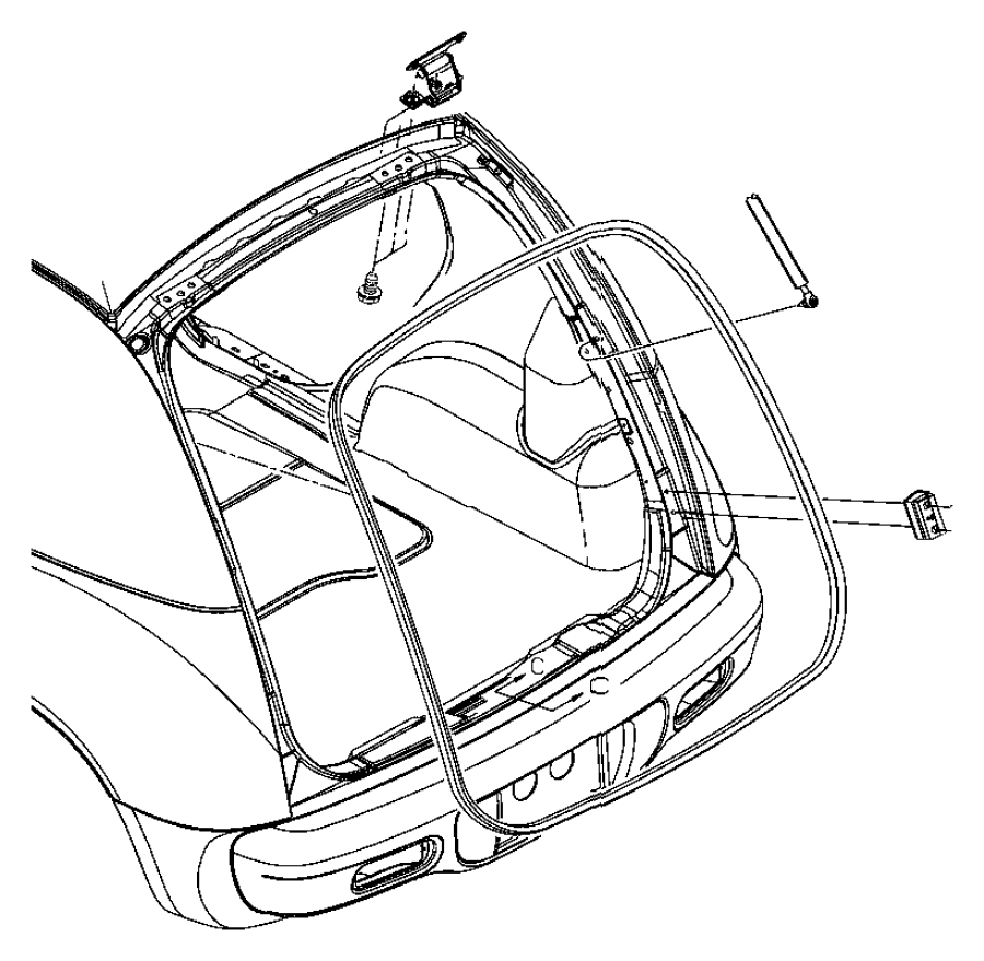 Chrysler Pt Cruiser Handle. Liftgate. Color: (-cf