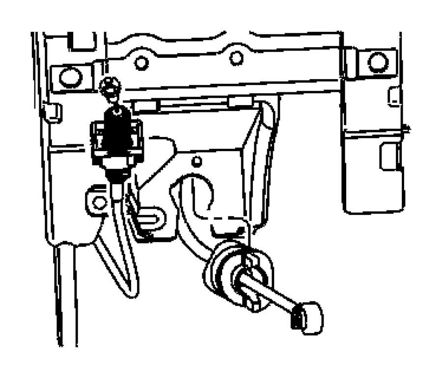 2007 Jeep Patriot Cable. Gear selector, ignition interlock