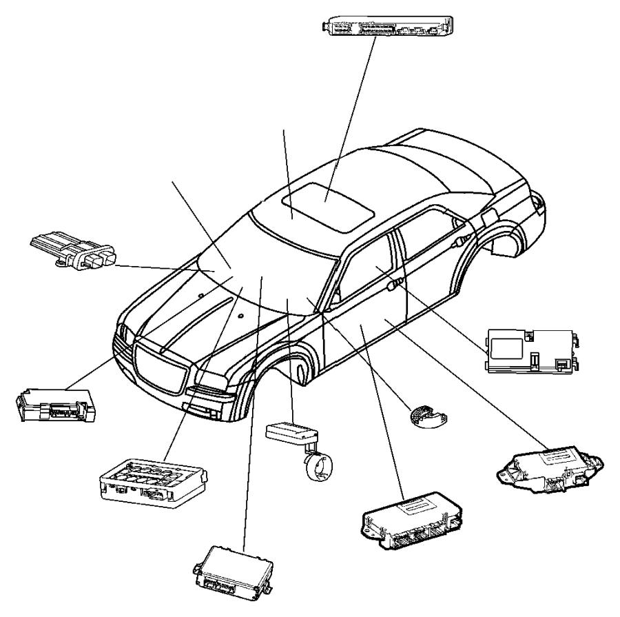Chrysler 300 Receiver. Keyless entry. [[keyless entry