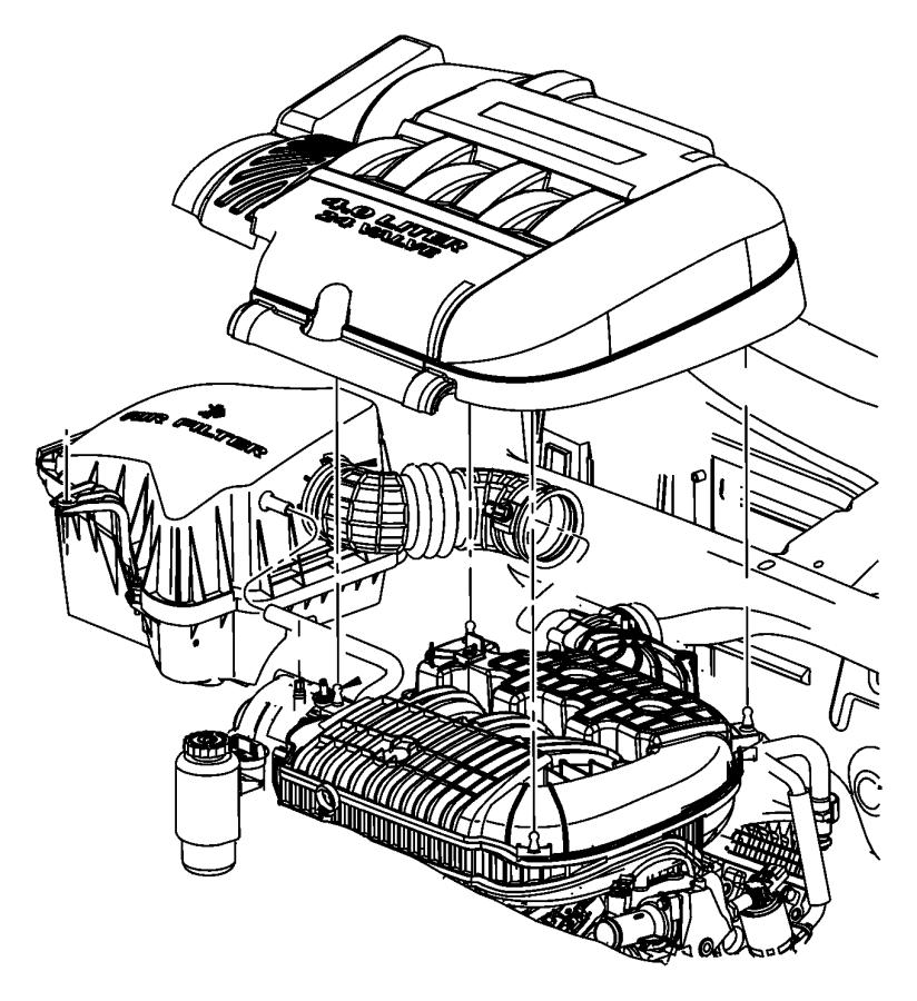 Chrysler Pacifica Plenum. Upper. Intake manifold. Egq, egs