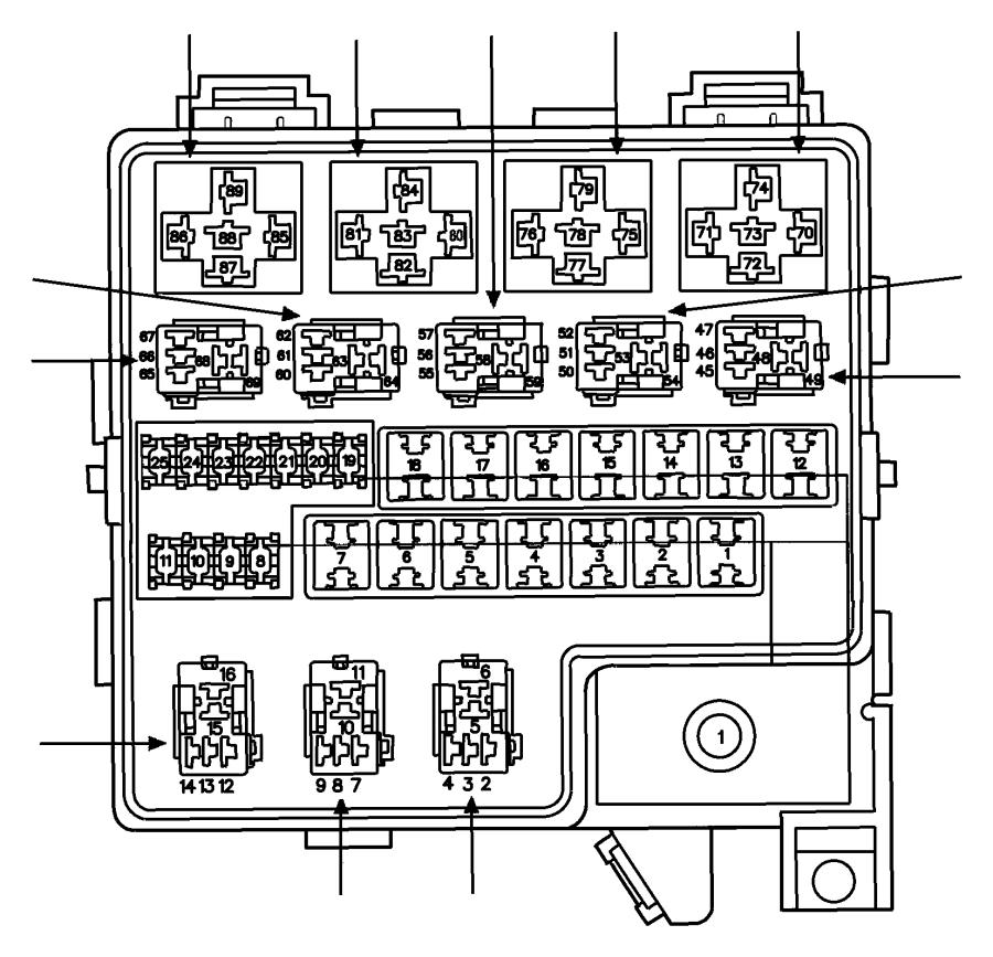 Jeep Wrangler Fuse, fuse cartridge. J case. 60 amp. Export