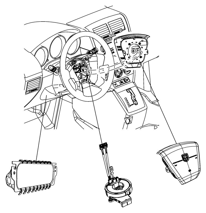 Jeep Commander Clockspring. Steering column control module
