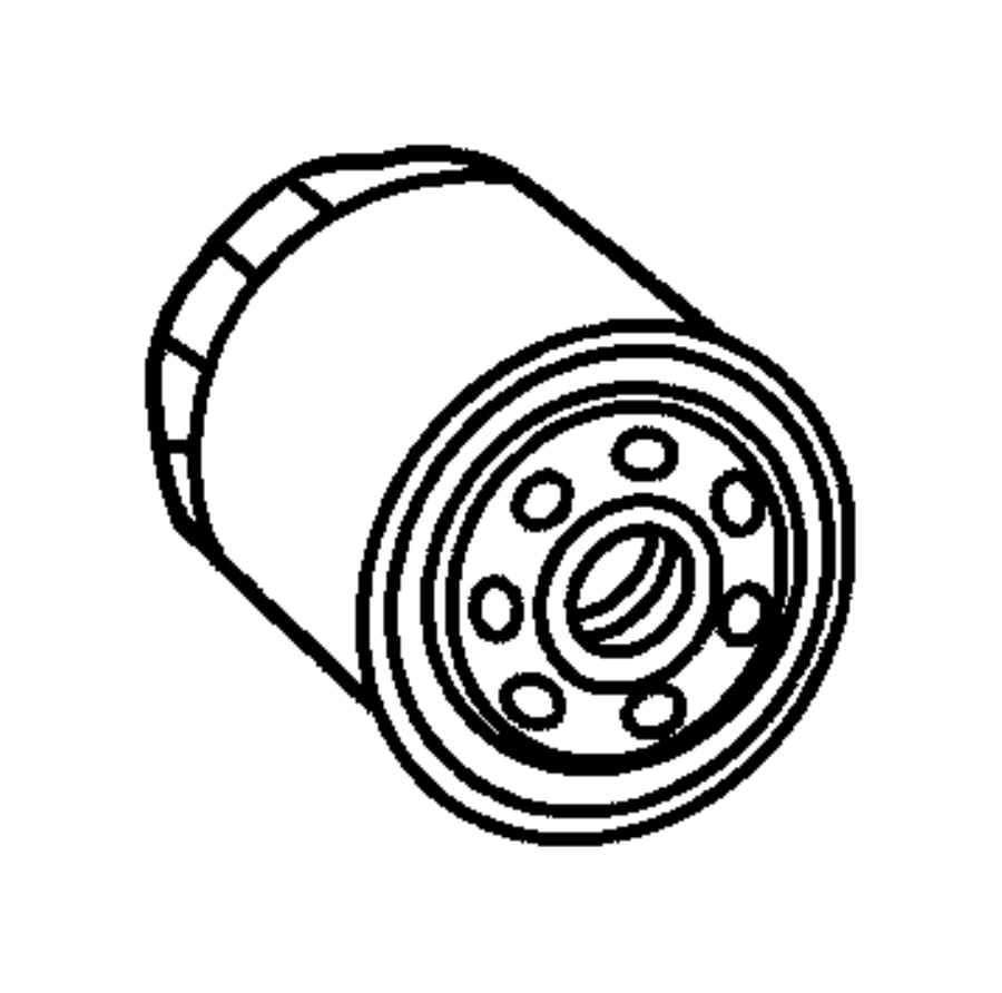 Chrysler Town & Country Adapter, connector. Oil filter