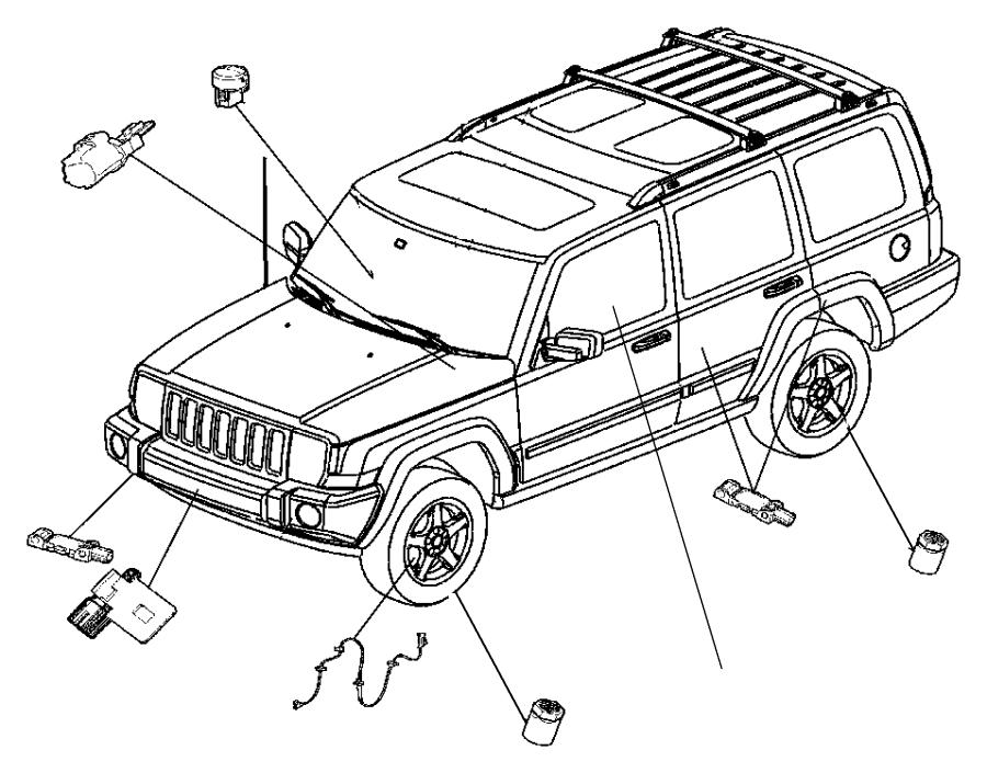 Dodge Nitro Hardware kit. Mounting. Trim: [all trim codes