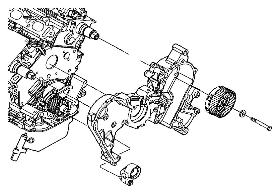 2009 Dodge Journey Sprocket. Camshaft. Left, left side