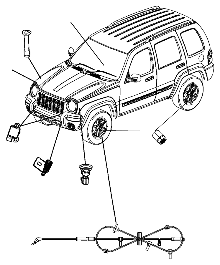 Jeep Liberty Sensor. Air bag. Genmultistageair