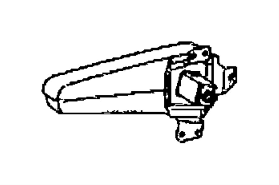 Dodge Sprinter 2500 Armrest. Left. Seat. Trim: (*f7.)color