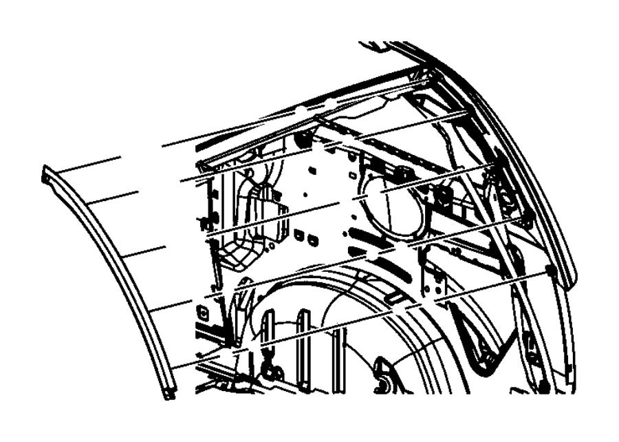 2014 Dodge Grand Caravan Applique. D pillar. Right. Color