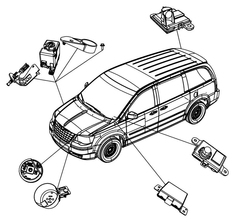 2012 Dodge Grand Caravan Siren Alarm System.
