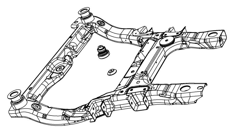 Chrysler Pacifica Isolator. Cradle, crossmember. Rebound