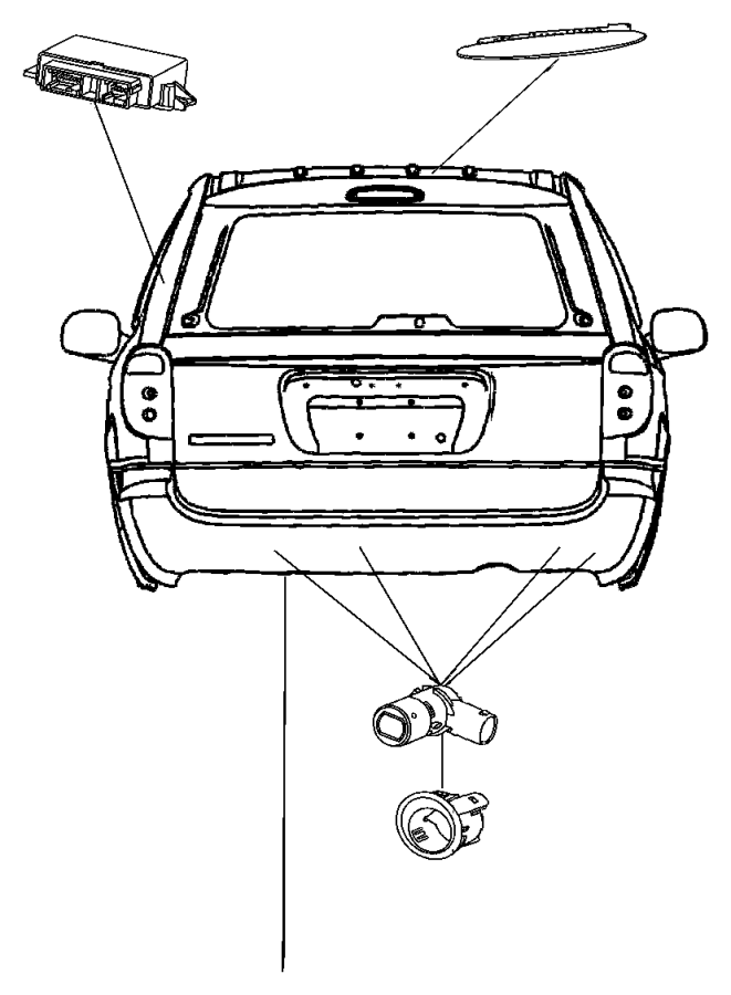 Chrysler Pacifica Module. Parking assist. [xaa, xzz], [xaa