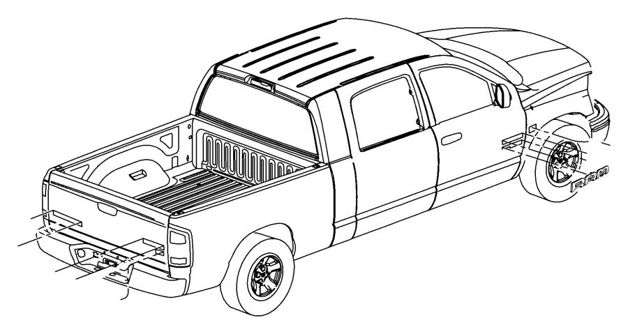 2004 Dodge Ram 1500 Nameplate. Door. Ram 1500. Runner, muc