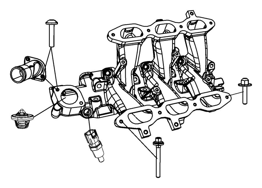 Chrysler Aspen Sensor. Coolant temperature, fluid