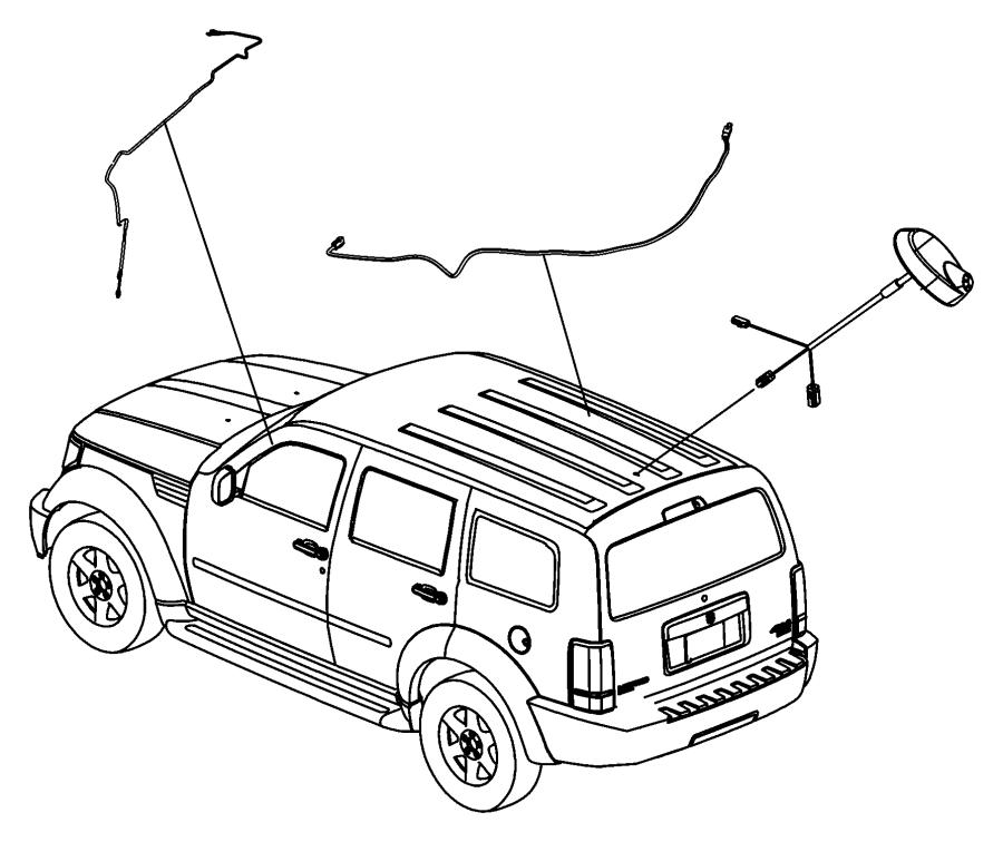 2008 Chrysler Sebring Antenna, base. Used for: base cable