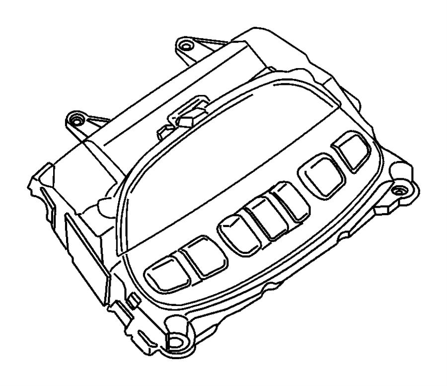 Dodge Ram 1500 Module. Evic module. Overhead console. Trim