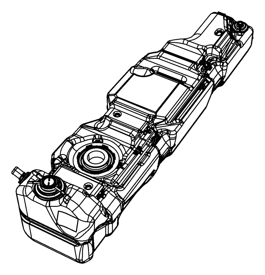2007 Jeep Wrangler Tank. Fuel. [22.5 gallon fuel tank], 23