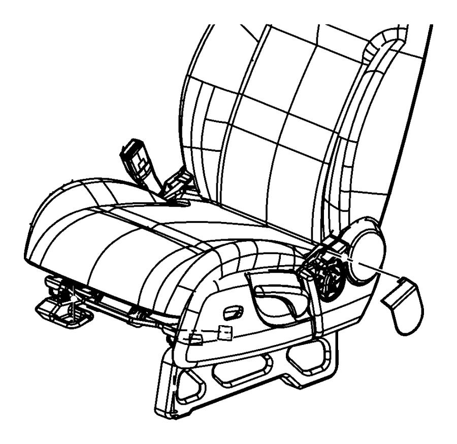 Jeep Liberty Cover. Seat belt anchor. Right. [da], [da