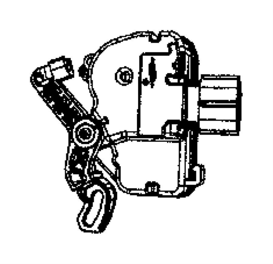 Chrysler Town & Country Actuator. Power door lock. Right