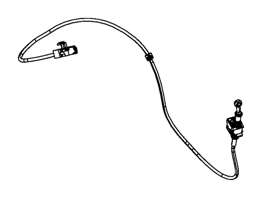 Dodge Caliber Cable. Gear selector, ignition interlock