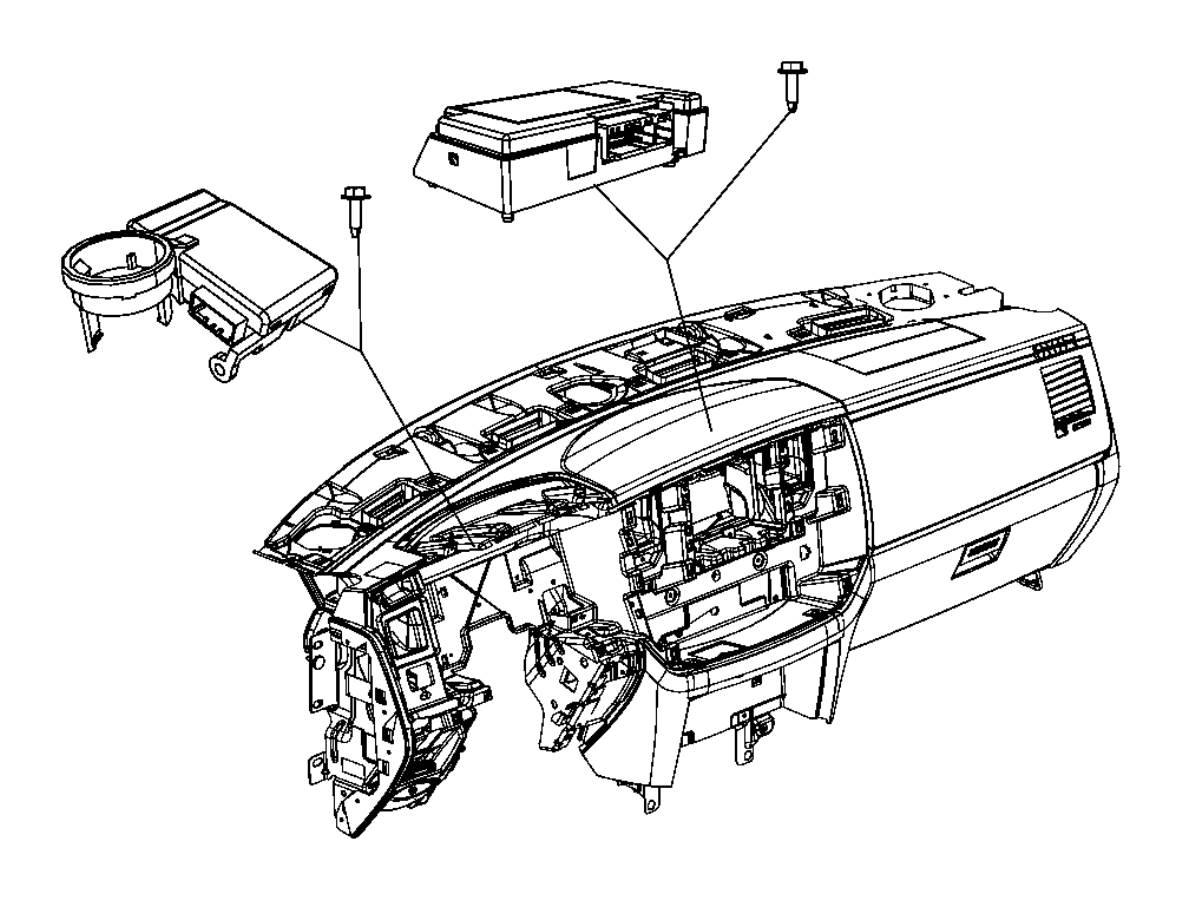 Dodge Ram Module Receiver Control Module Immobilizer Gxmgxx Systemblackbluem