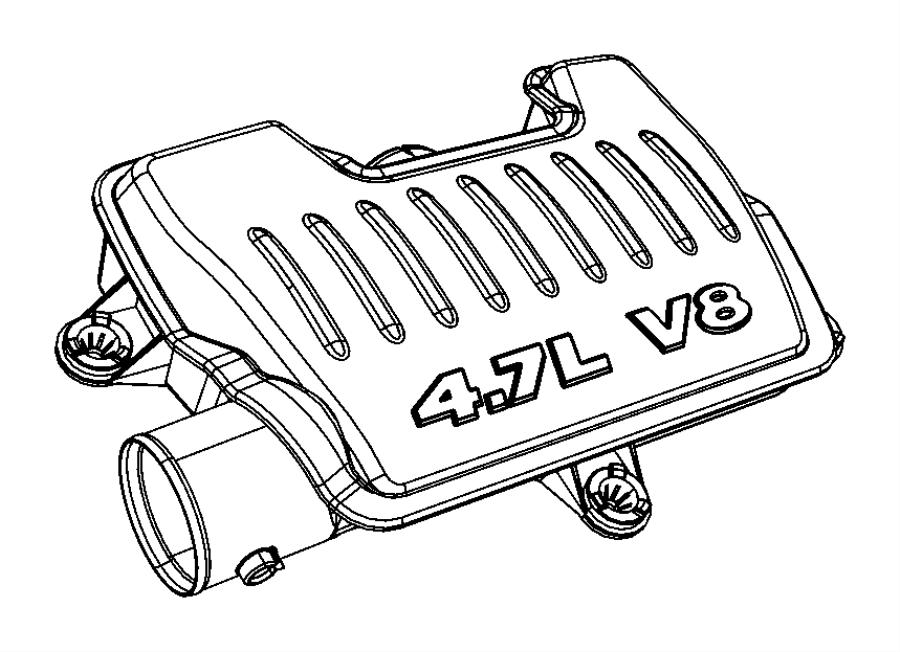 Jeep Commander Resonator. Air cleaner. Air cleaner hose