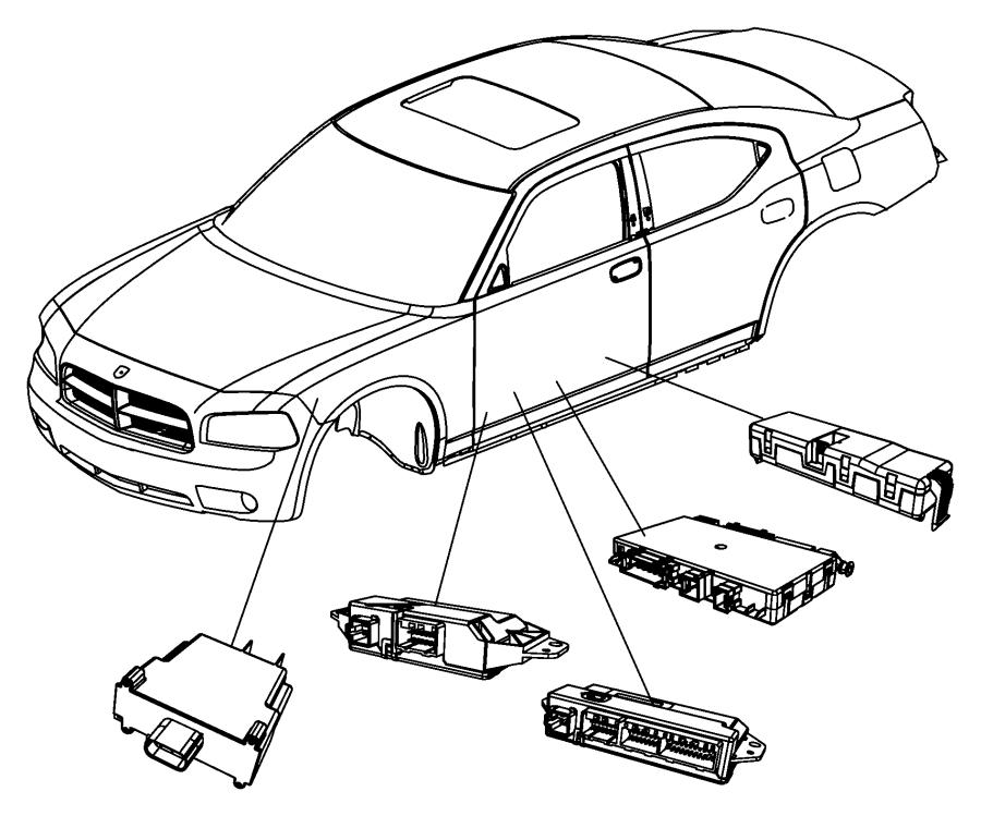 Chrysler 300 Module. Door, window memory. Trim: [lux