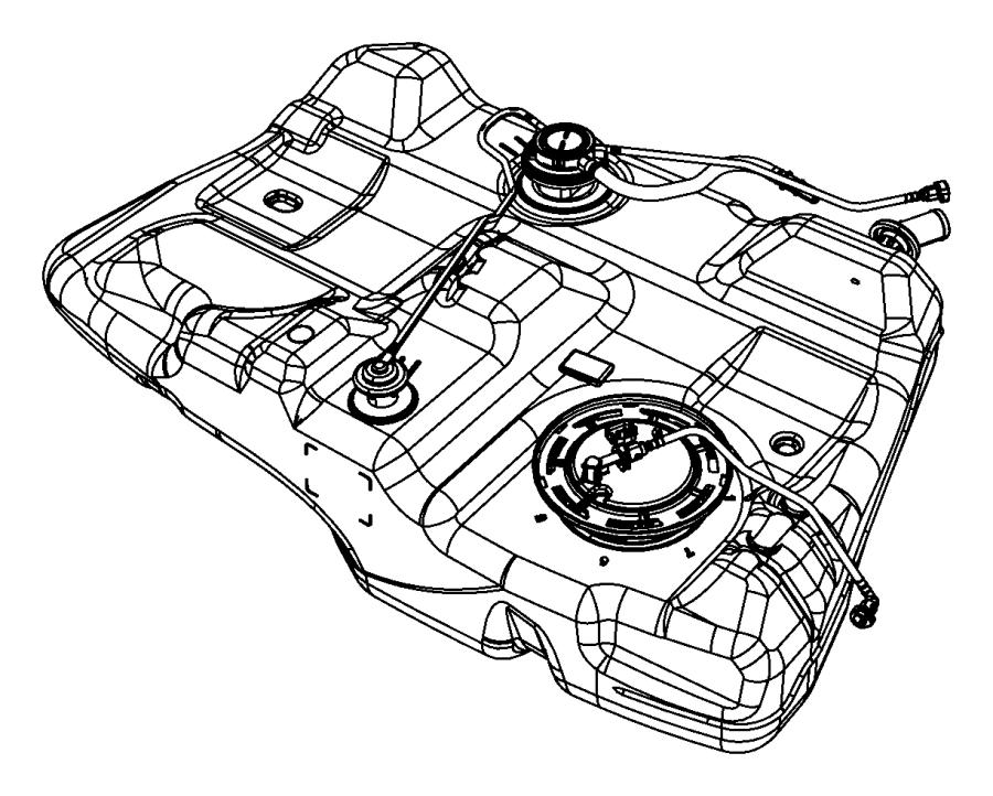 Chrysler 200 Tank. Fuel. [18.5 gallon fuel tank], [17