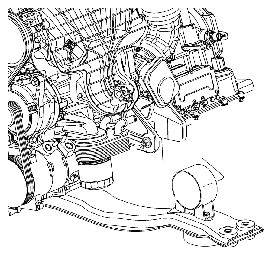 Dodge Avenger Crossmember. Front frame, front suspension