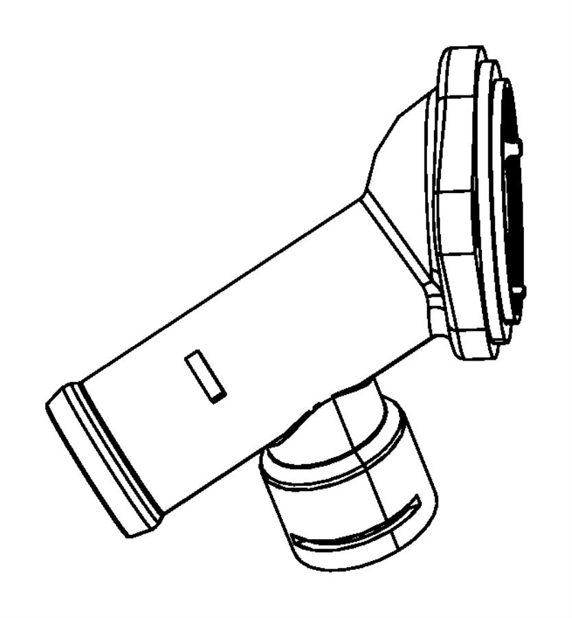 Dodge Caliber Connector, housing. Engine coolant outlet