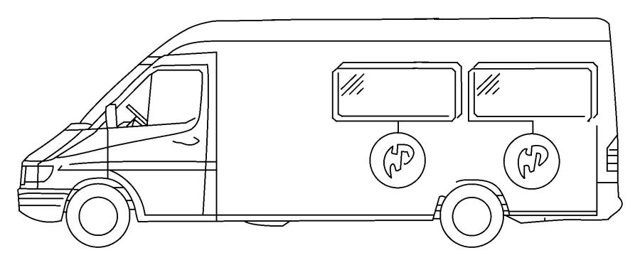 Dodge Sprinter 2500 Glass. Bodyside window. Left. Gel, gae