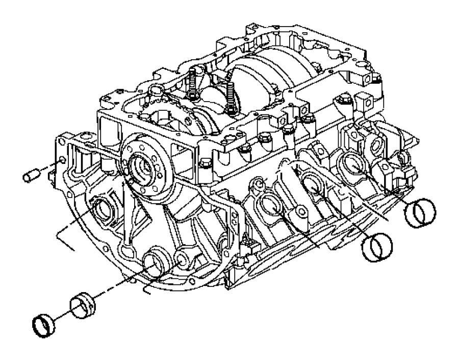 Jeep Liberty Engine. Short block. See note. [ddt] manual