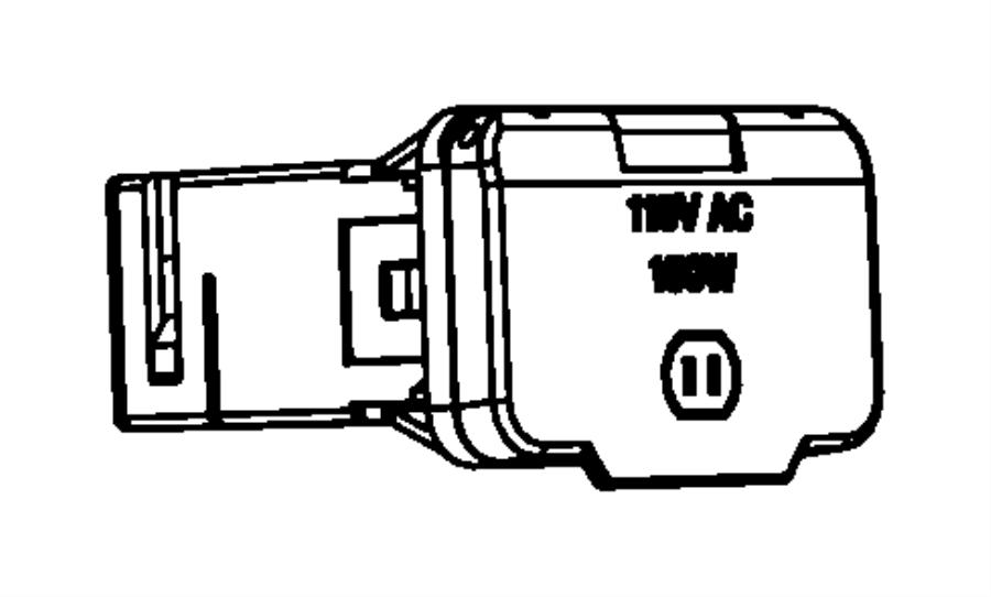 Dodge Grand Caravan Power outlet. Inverter. Trim: [all