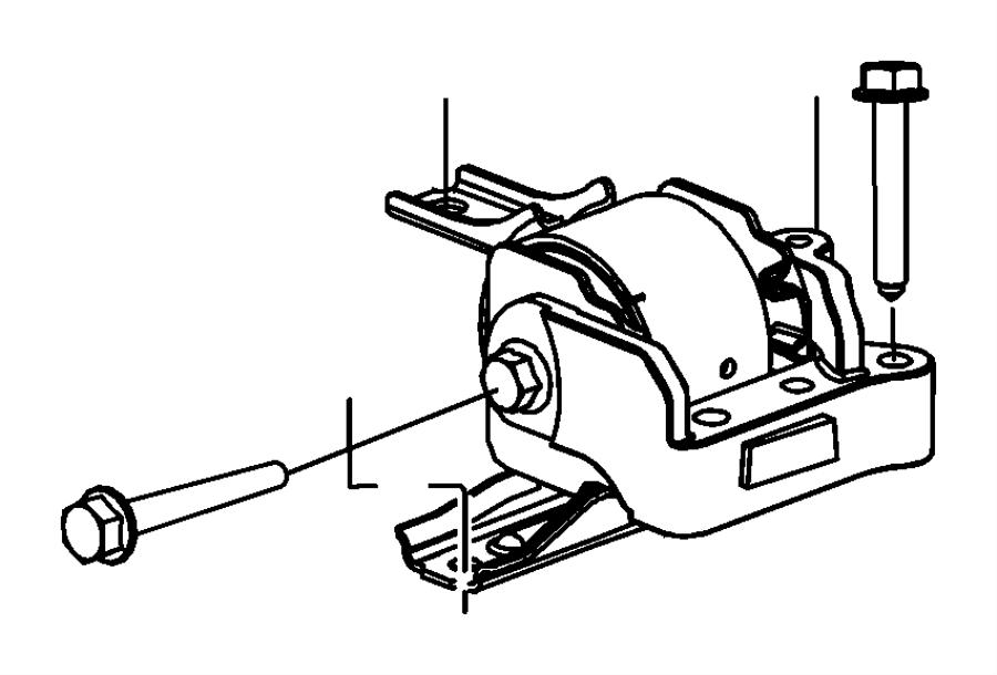 Dodge Caliber Insulator. Right, right side. Engine mount