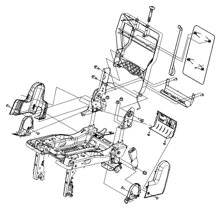 Dodge Grand Caravan Spring kit. Rear seat. 3rd row. Trim