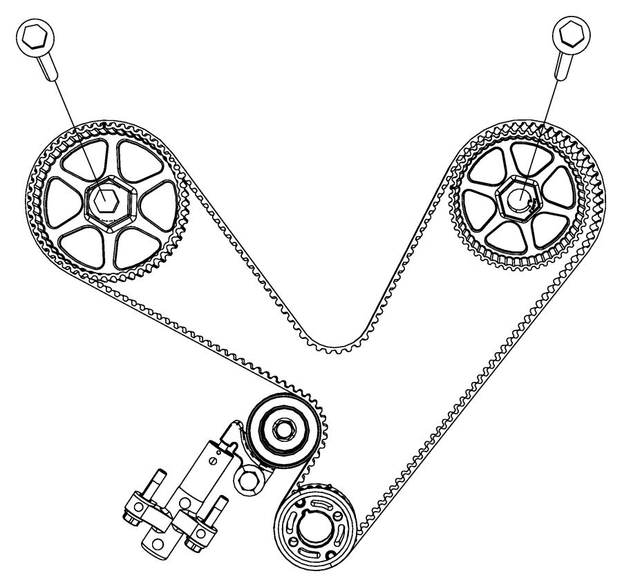 Dodge Neon Gear, sprocket. Crankshaft, timing belt. Front