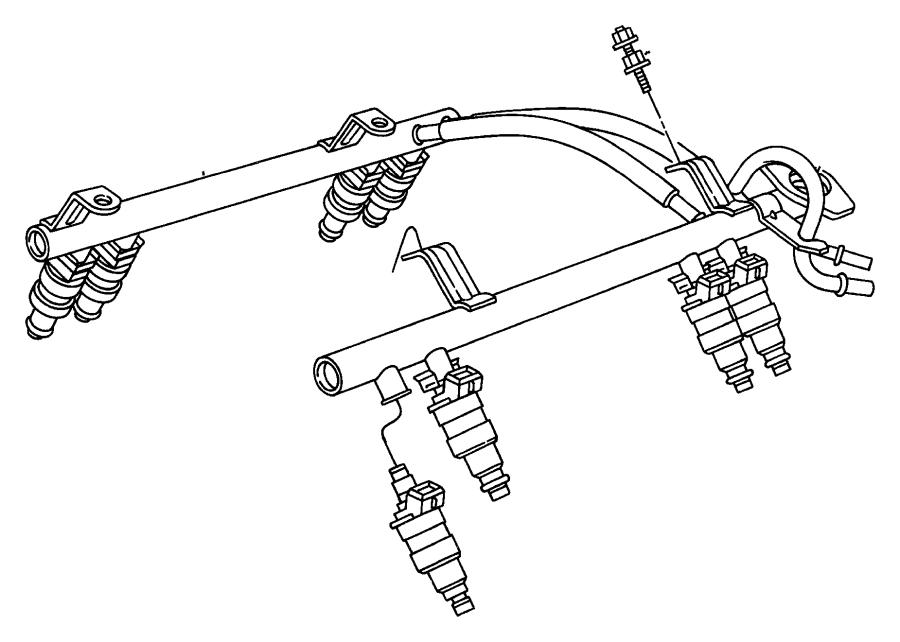 Dodge Ram 2500 Rail. Fuel. [5.7l v8 hemi mds vvt engine