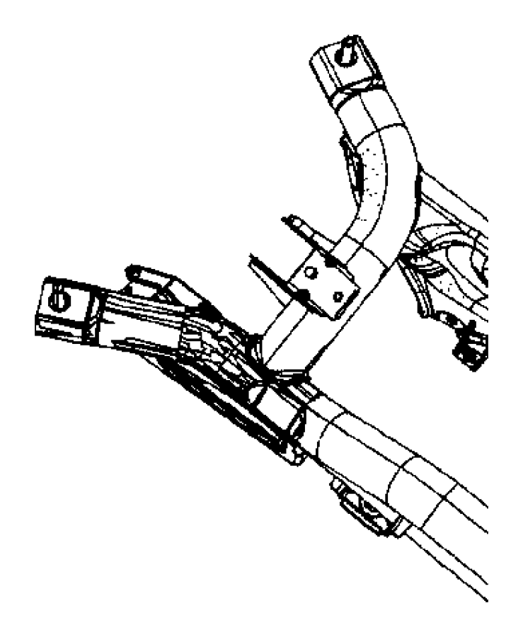 2013 Jeep Patriot Crossmember. Rear suspension