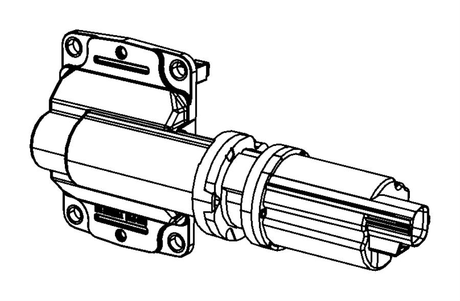 Dodge Ram 1500 Actuator, motor kit. Axle, axle locker