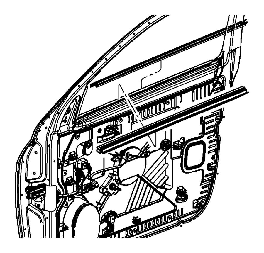 2009 Dodge Ram 1500 Weatherstrip. Front door belt outer