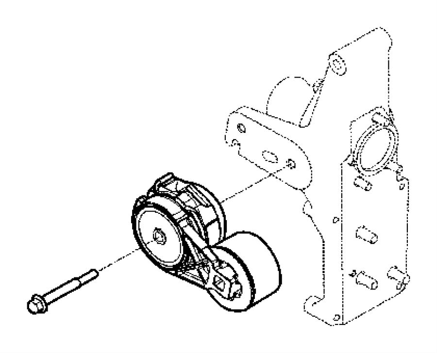 2010 Dodge Ram 3500 Connector. Water inlet. [6-speed