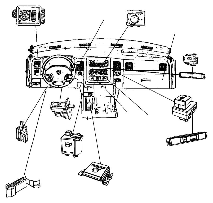 Dodge Ram 1500 Bezel. Airbag disable, instrument panel
