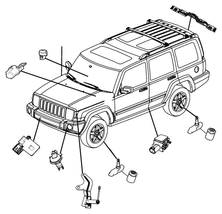 2008 Jeep Grand Cherokee Sensor. Front, side. Side airbag
