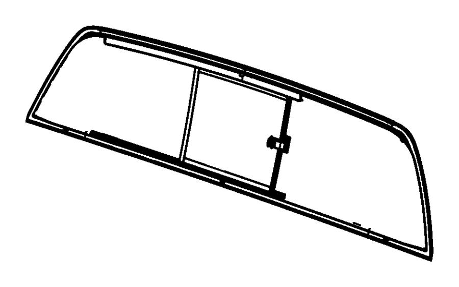 Dodge Ram 1500 Glass. Backlite, sliding. Repair. Nonpower