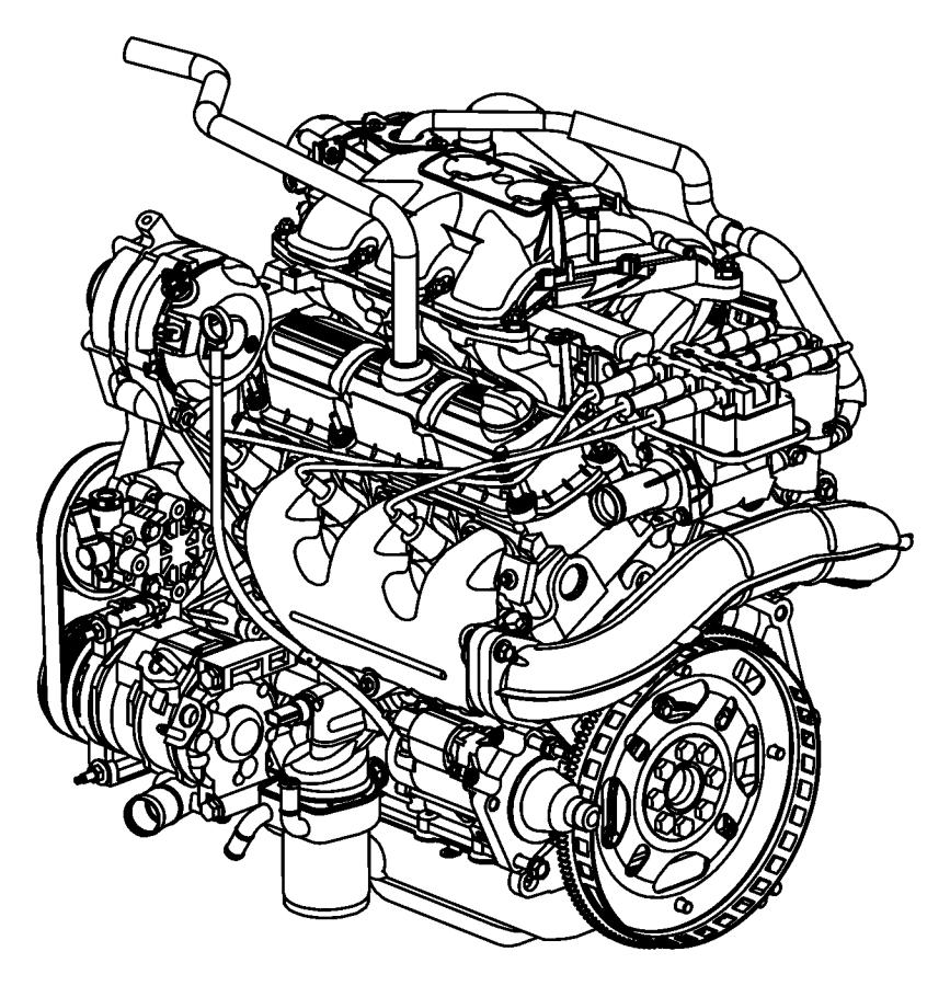 2007 Jeep Wrangler Engine. Remanufactured. Long block. Egt
