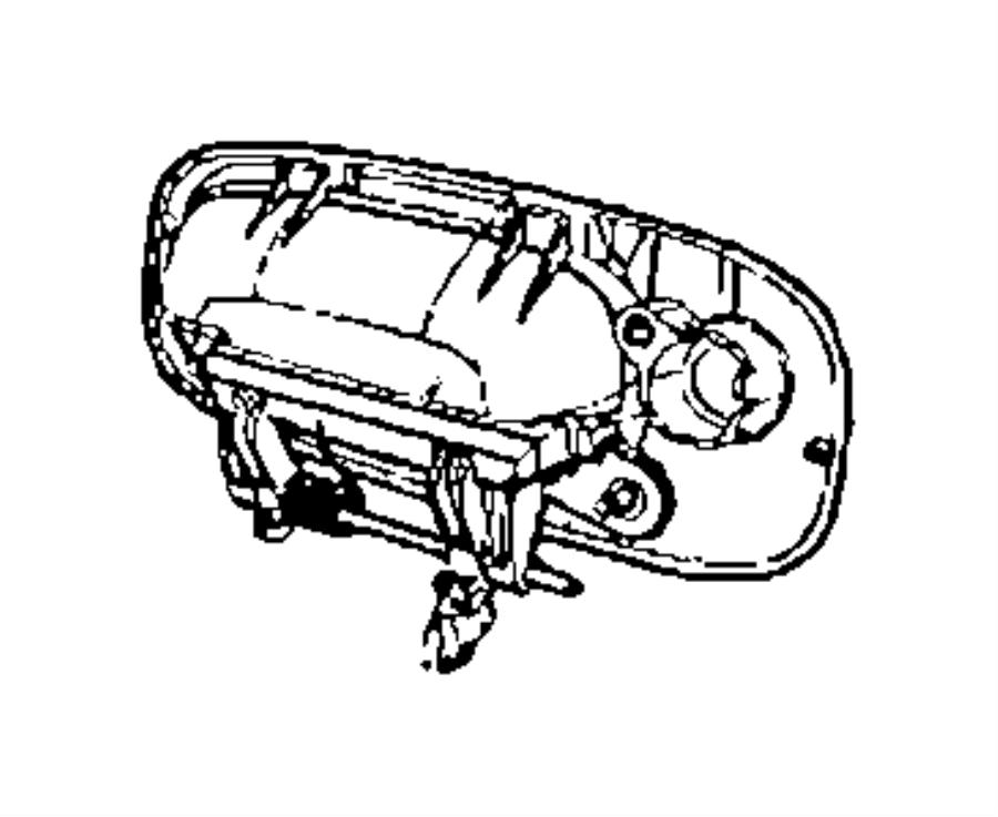 Dodge Charger Handle. Exterior door. Left. [body color