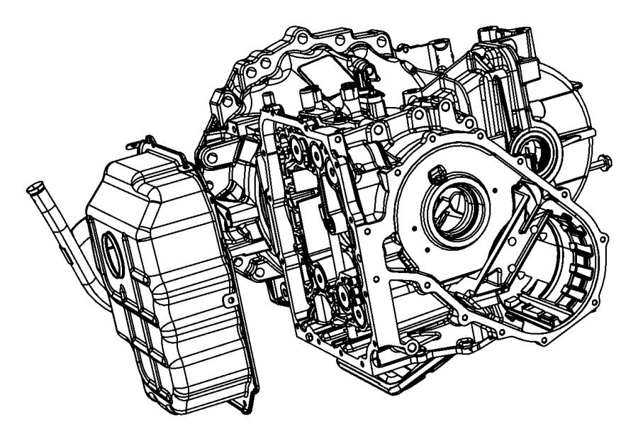 2013 Dodge Grand Caravan Cover, pan. Valve body, valve