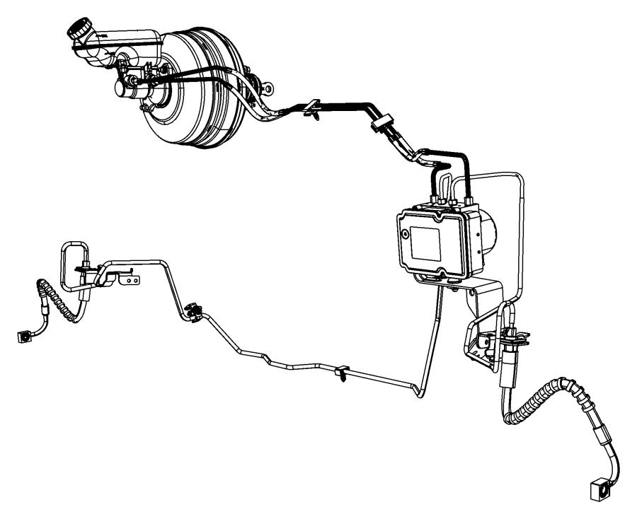 2009 Dodge Grand Caravan Module. Anti-lock brake system