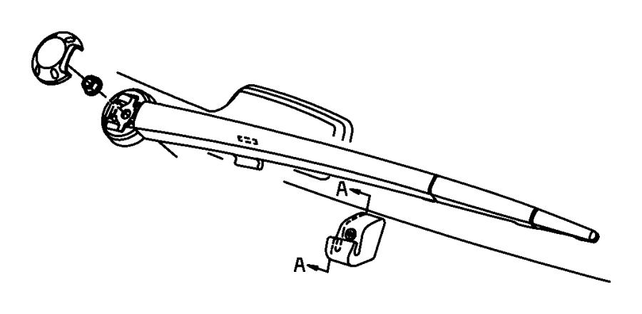 Jeep Commander Arm. Liftgate wiper, rear wiper