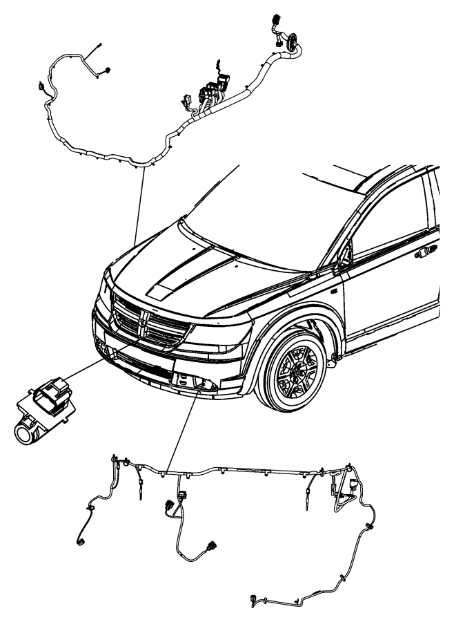 Dodge Journey Resistor. Radiator fan. Connects